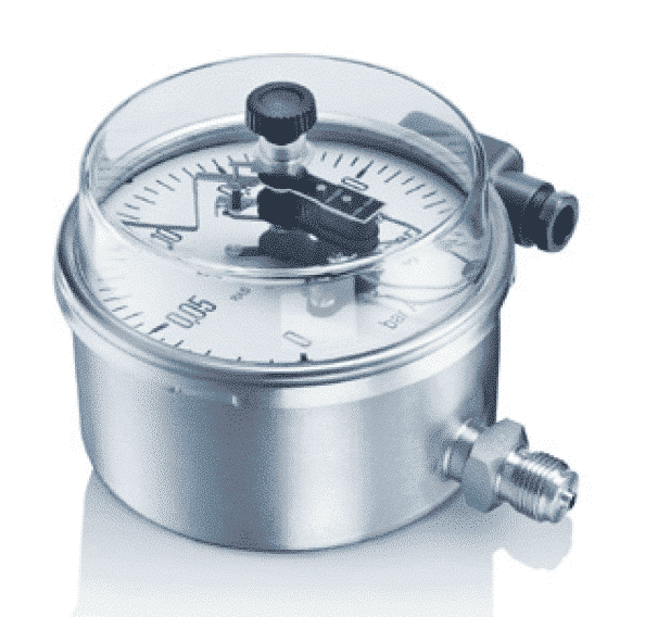 M17-M27 Industrial Pressure Gauges with electrical contacts